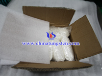 white tungstic acid sample packing photo